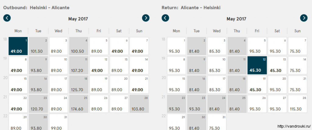 Прямой рейс из хельсинки в аликанте