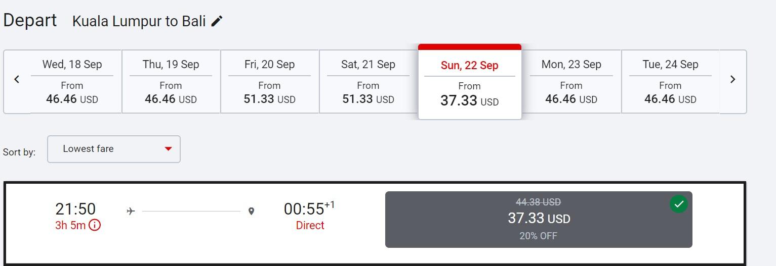 Air Asia: скидка 20% на все рейсы авиакомпании!
