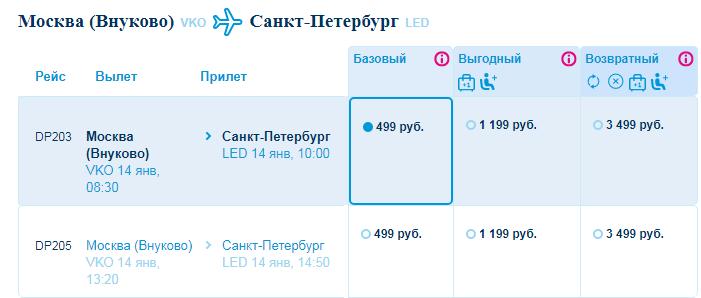 Победа: полеты по России всего за 499 рублей! - sank