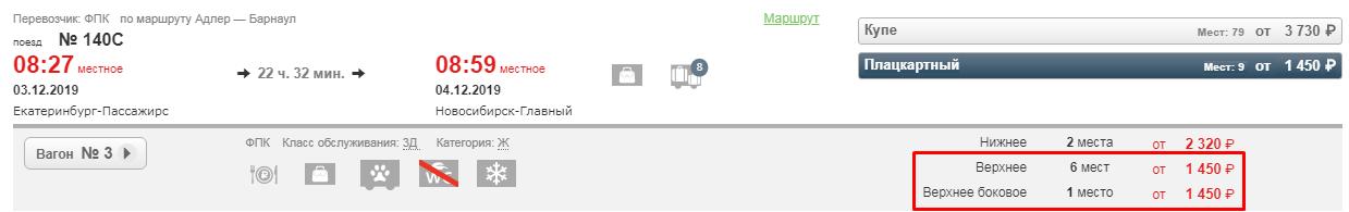 Распродажа РЖД: скидка 30% на поездки в плацкарте (все направления)!