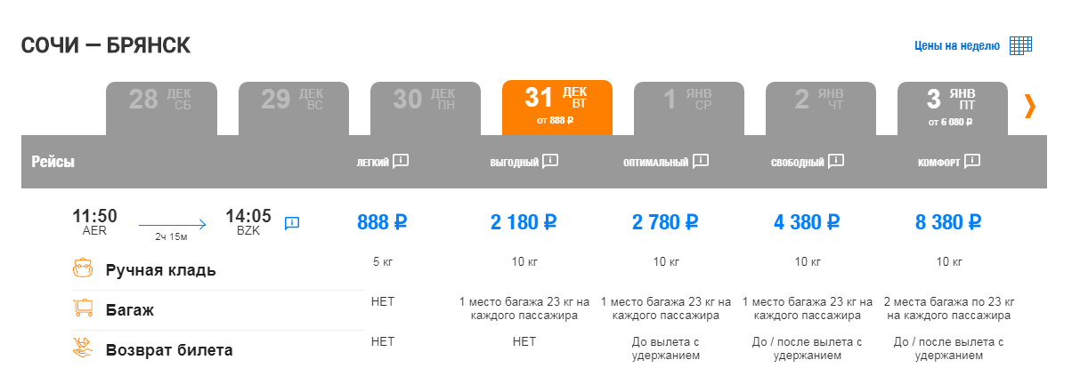 Россия — добрая: держите 13 возможностей полетать по стране 31 декабря не дороже 2000 рублей!